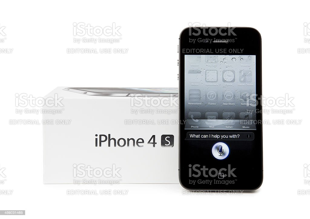 iPhone 4S Isolated on White royalty-free stock photo