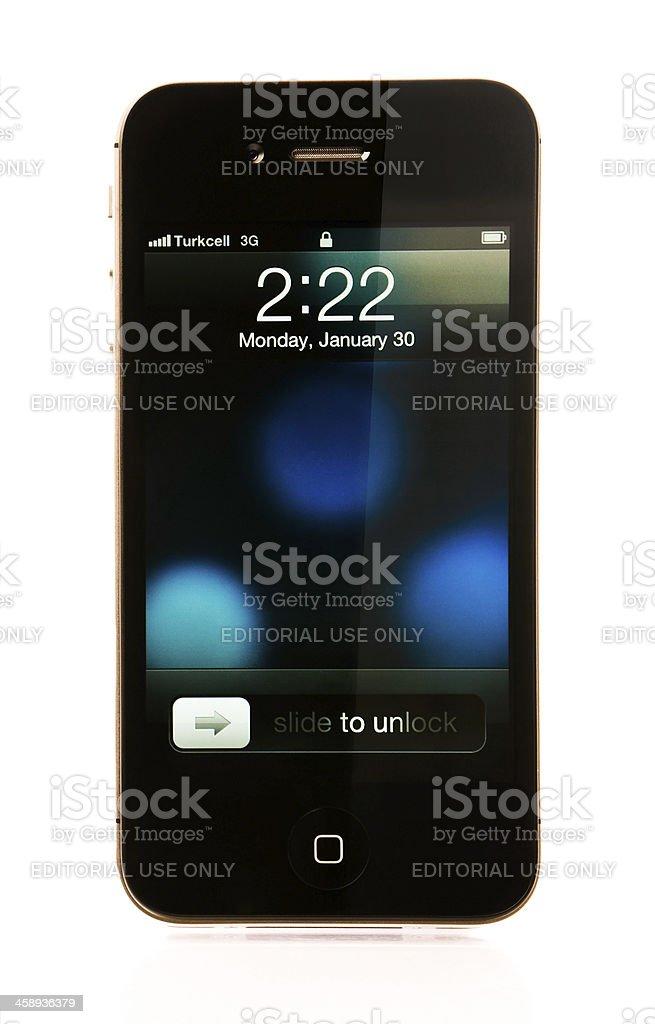 iPhone 4S Lock Screen stock photo