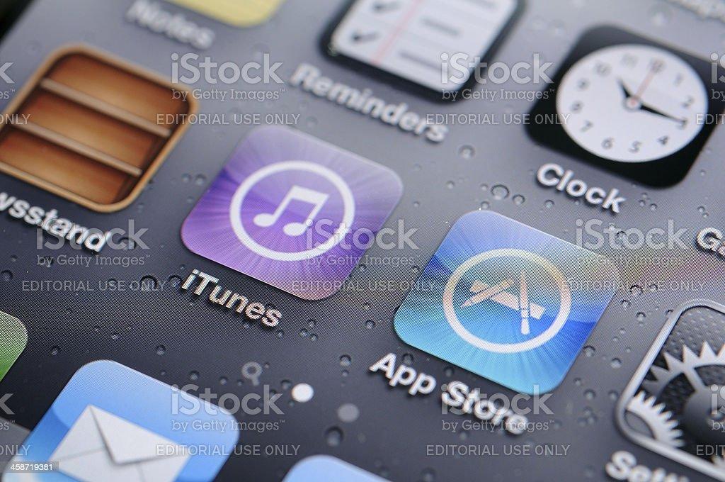 iPhone 4s screen stock photo
