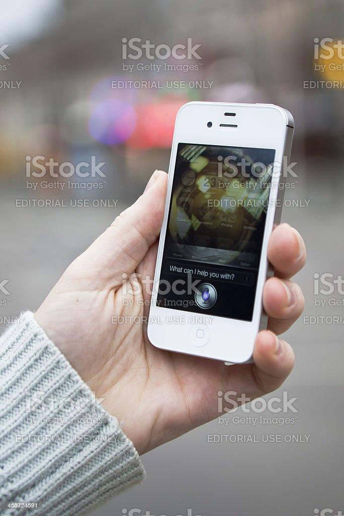 iPhone 4S - Siri Application royalty-free stock photo