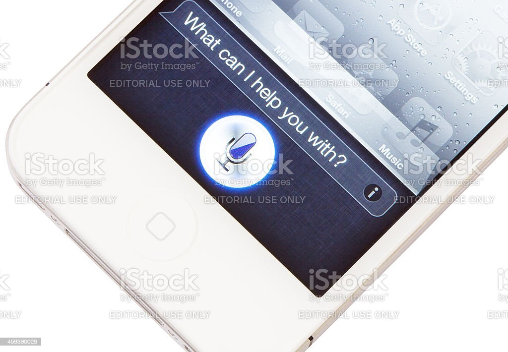 iPhone 4S Siri royalty-free stock photo