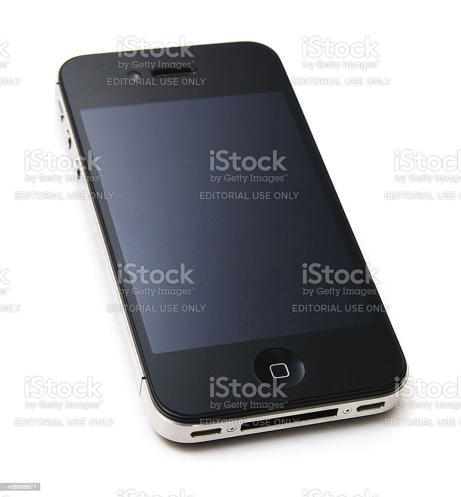 iPhone 4S with a Blank Screen royalty-free stock photo