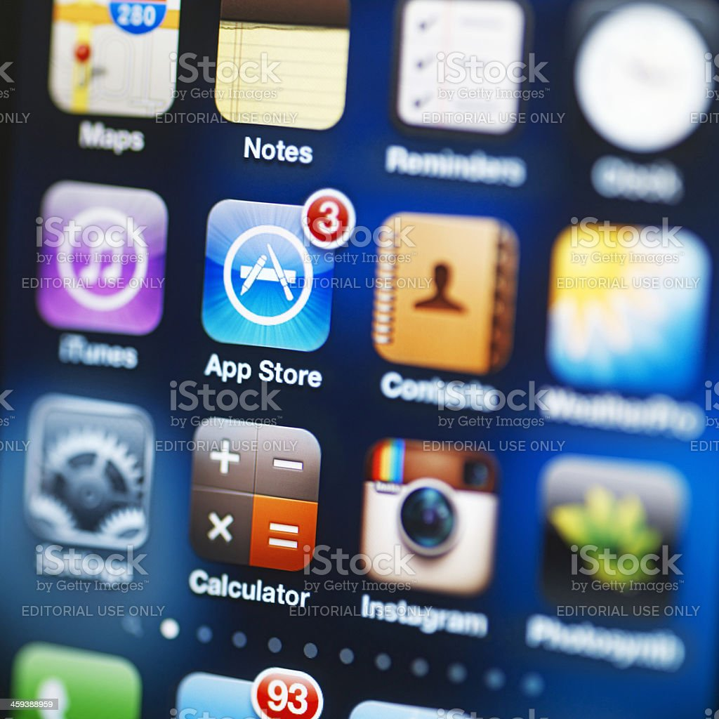 iPhone 4S with applications royalty-free stock photo