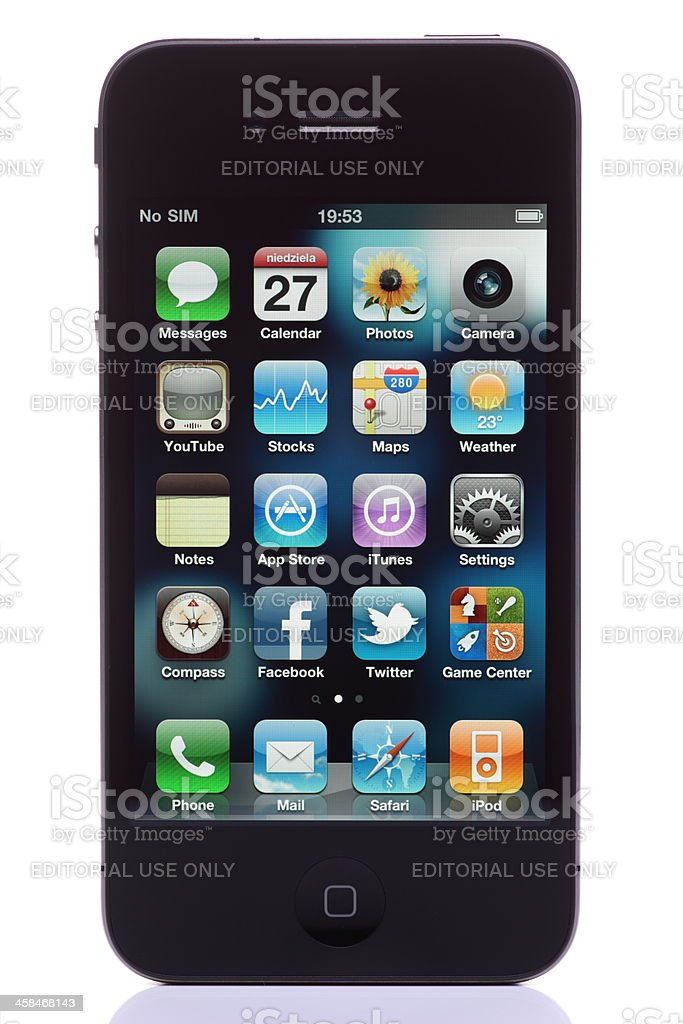iPhone 4th generation royalty-free stock photo