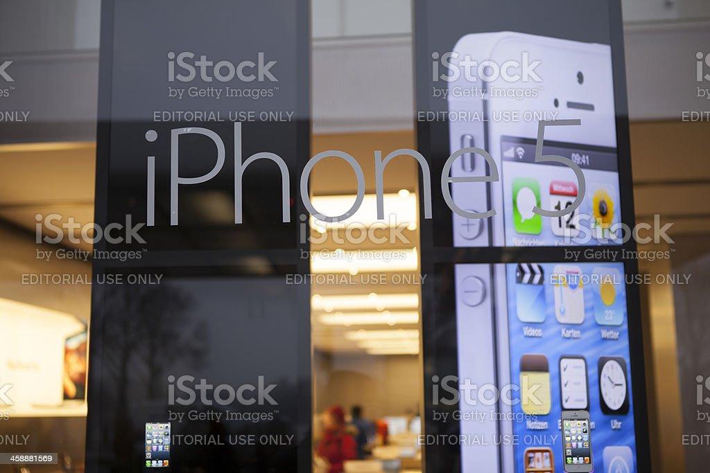 iphone 5 advertising royalty-free stock photo