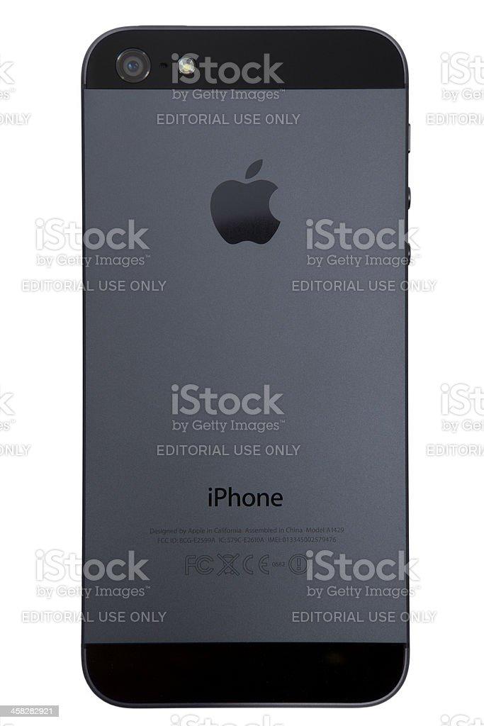 iphone 5 back royalty-free stock photo