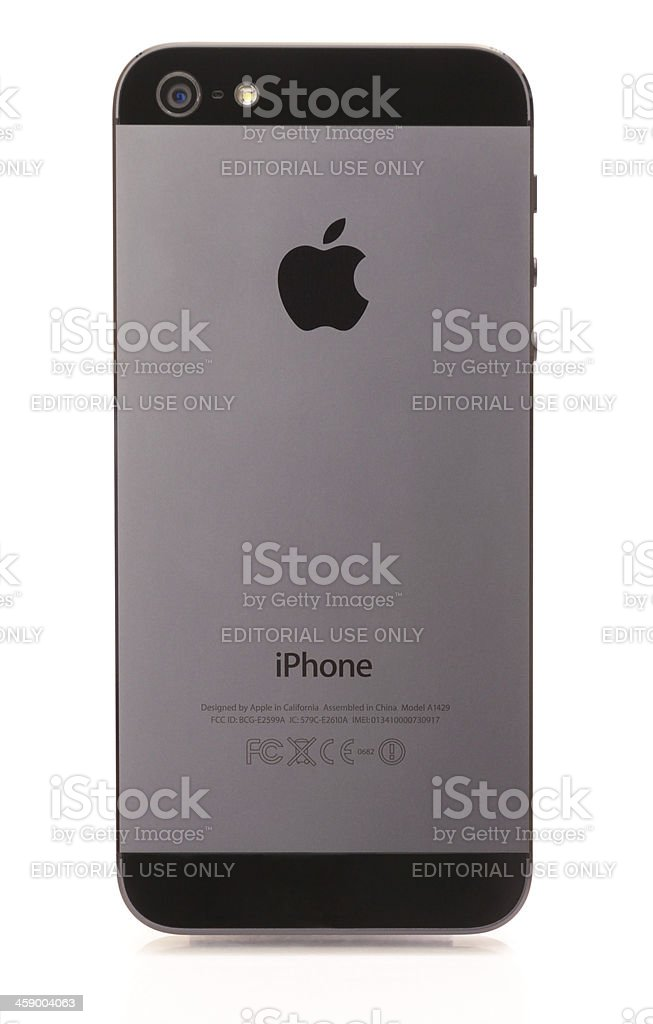 Iphone 5 Back Side royalty-free stock photo