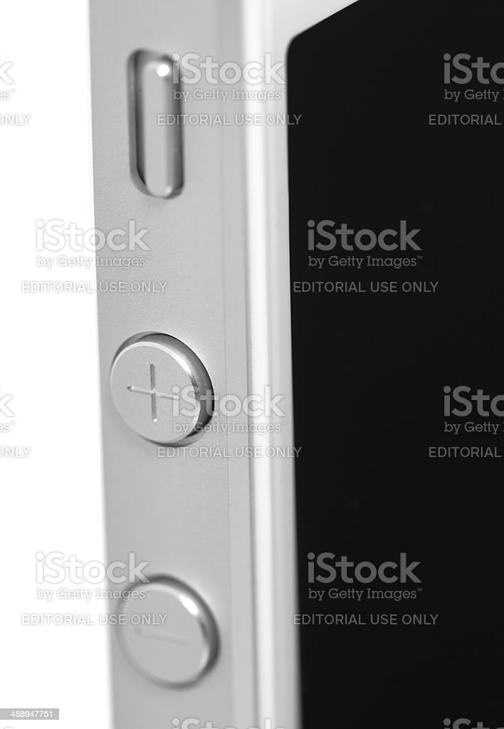 iPhone 5 detail royalty-free stock photo