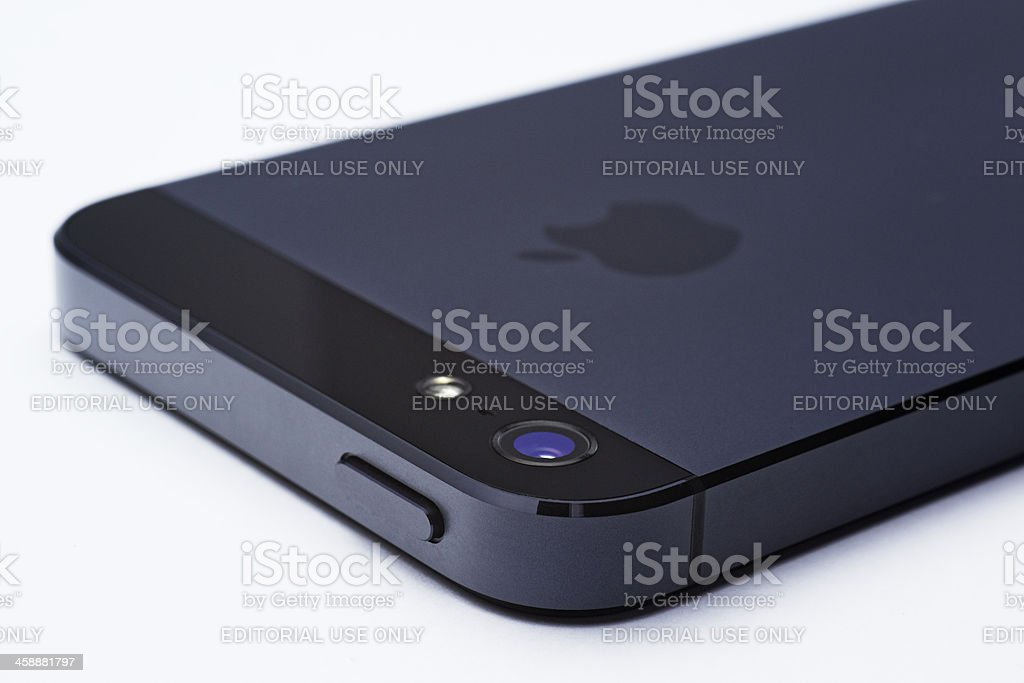 iPhone 5 in perspective royalty-free stock photo
