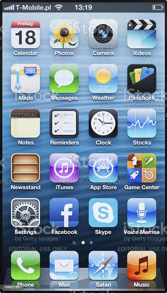 iPhone 5 screen royalty-free stock photo