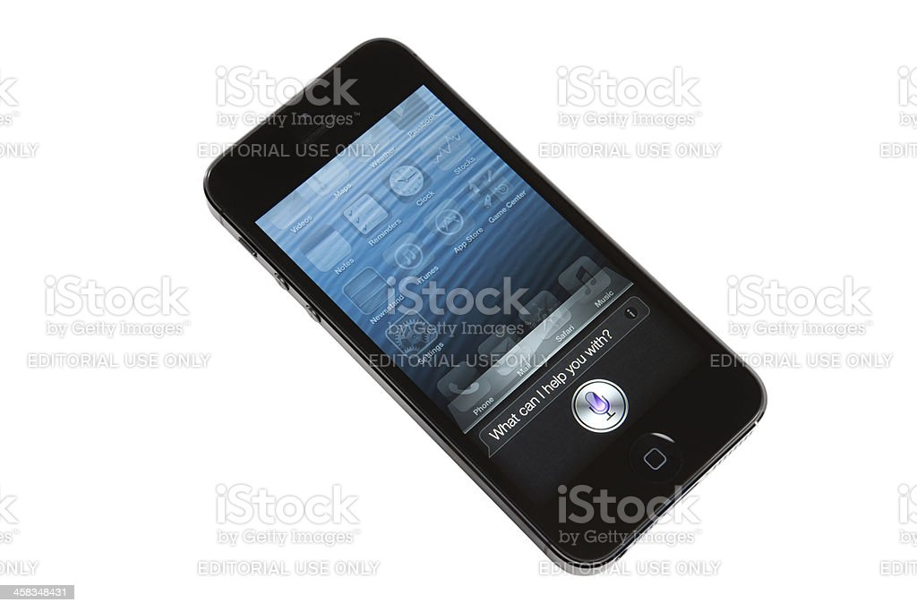 iPhone 5 Siri app royalty-free stock photo