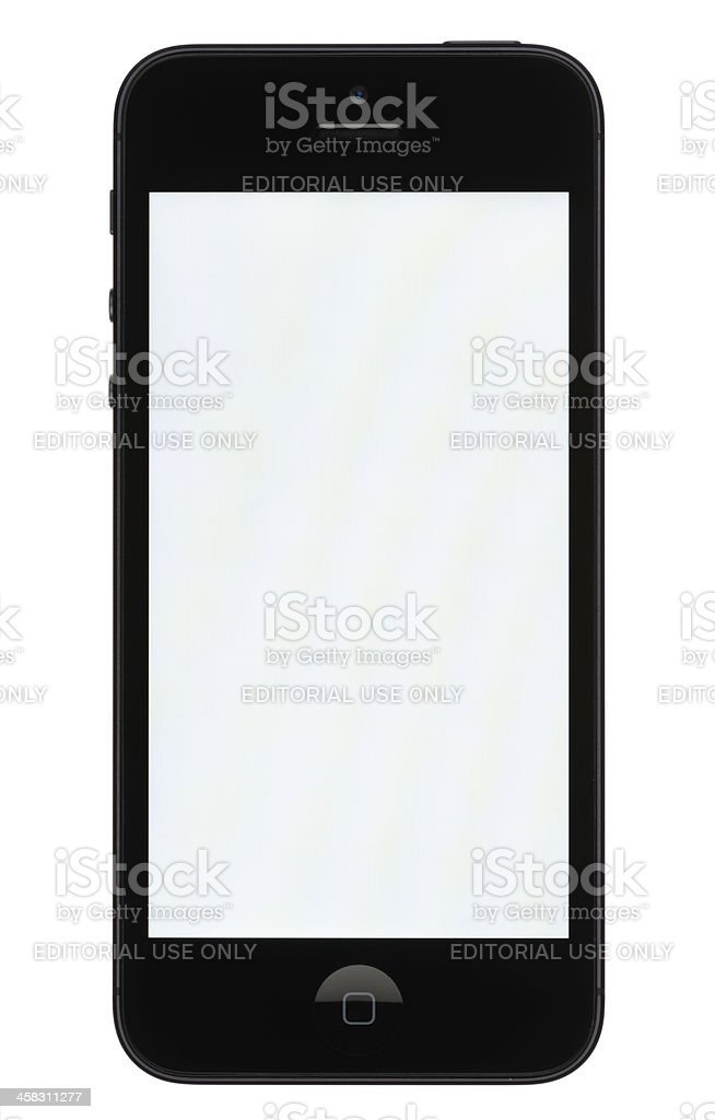 iPhone 5 with a Blank Screen stock photo