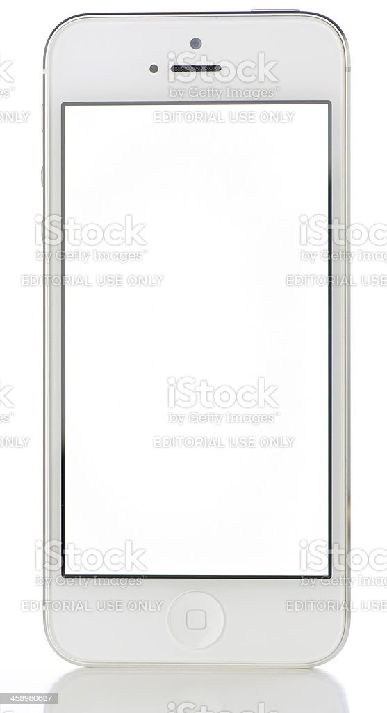 iPhone 5 with Blank White Screen royalty-free stock photo