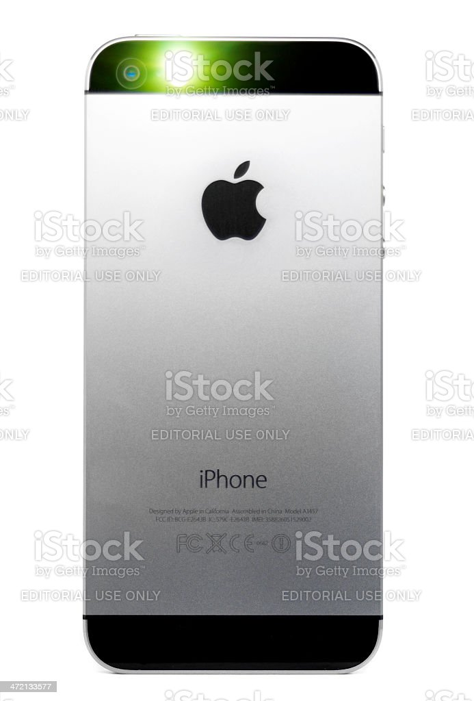 iPhone 5s Back with Flash stock photo