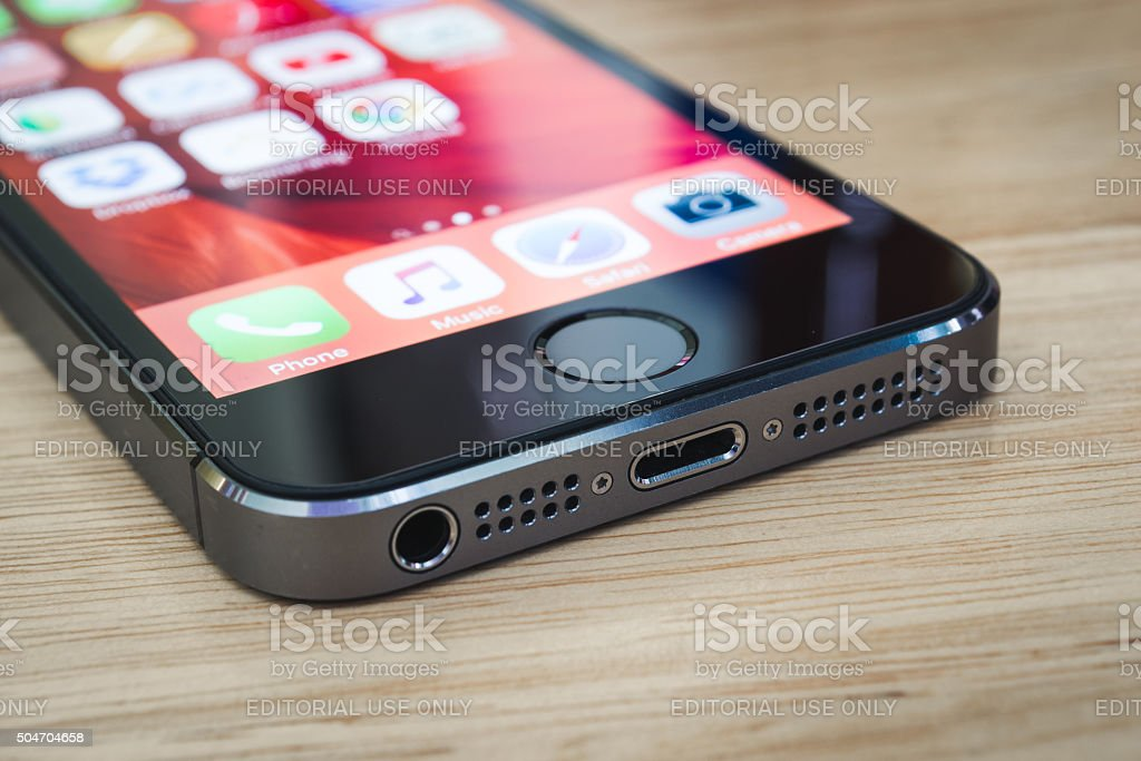 iPhone 5s' External Connectors stock photo