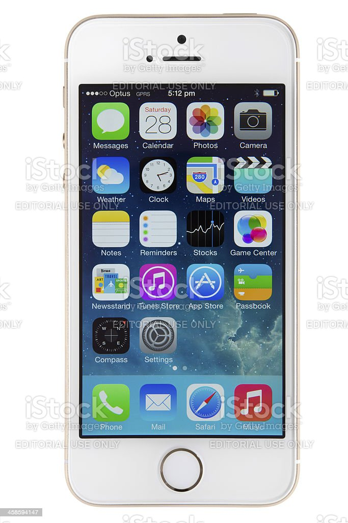 iphone 5s Gold stock photo