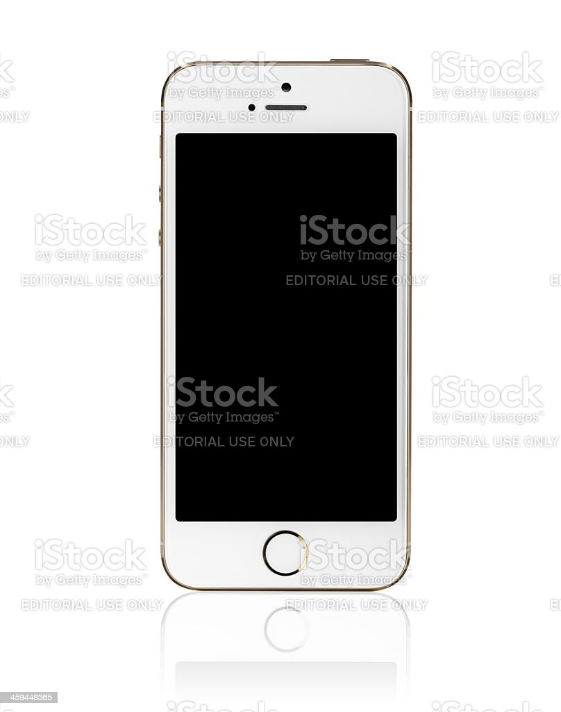 iPhone 5s Gold with a Blank Screen stock photo