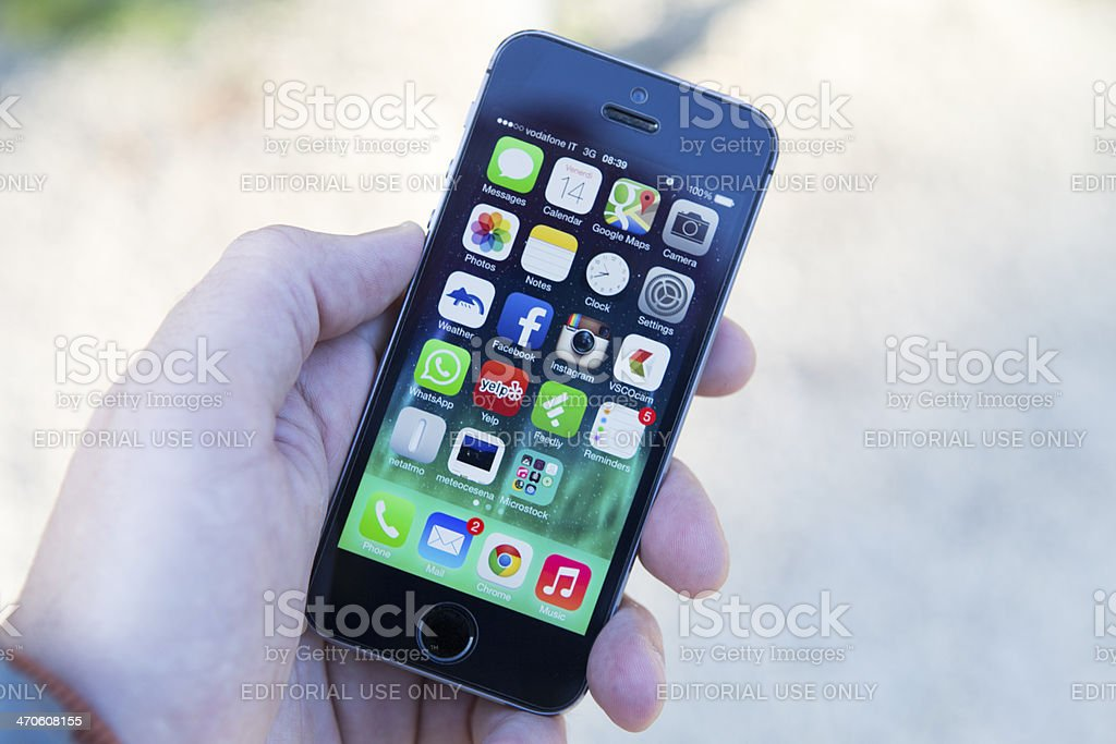 iphone 5S home screen royalty-free stock photo
