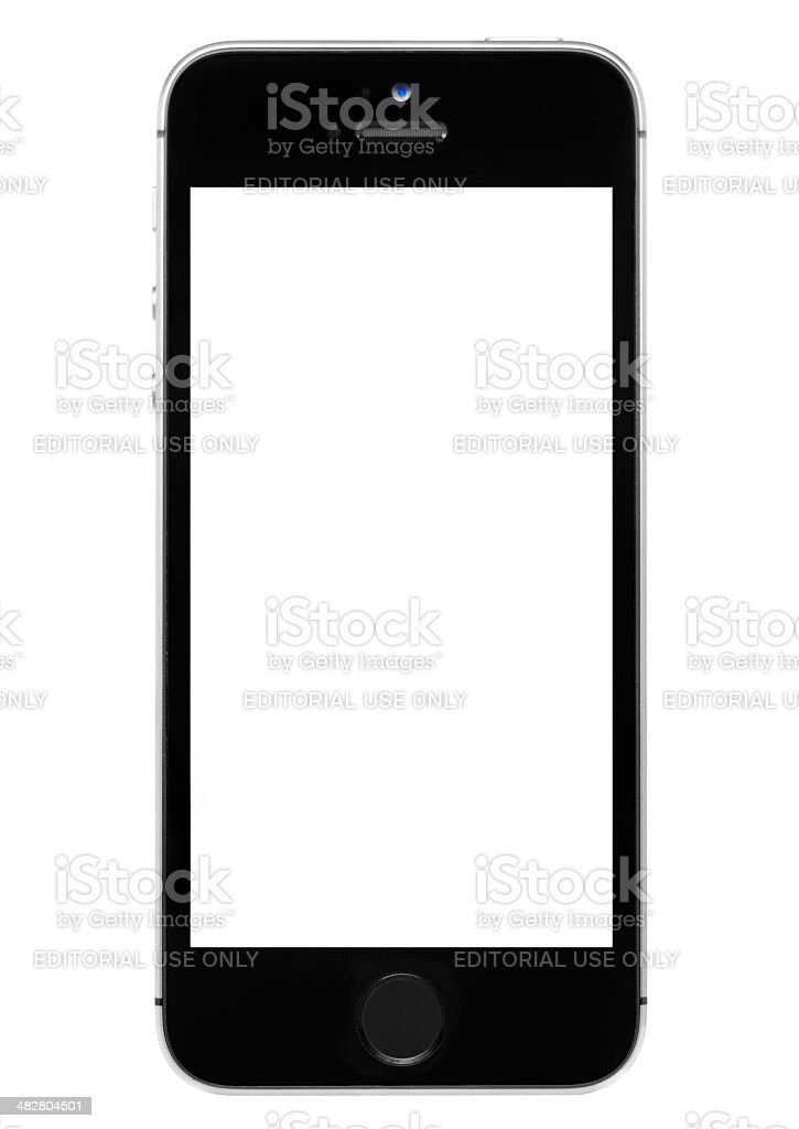 iPhone 5s with a Blank Screen royalty-free stock photo
