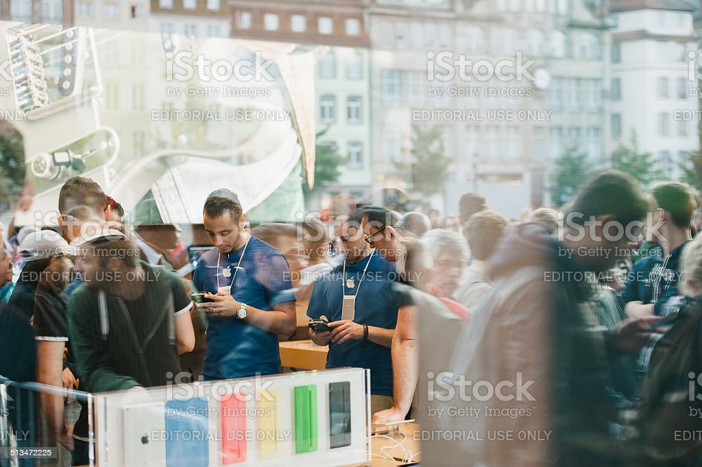 iPhone 6 launch event stock photo