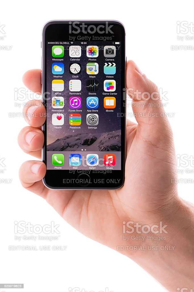 Iphone 6 Space Gray stock photo