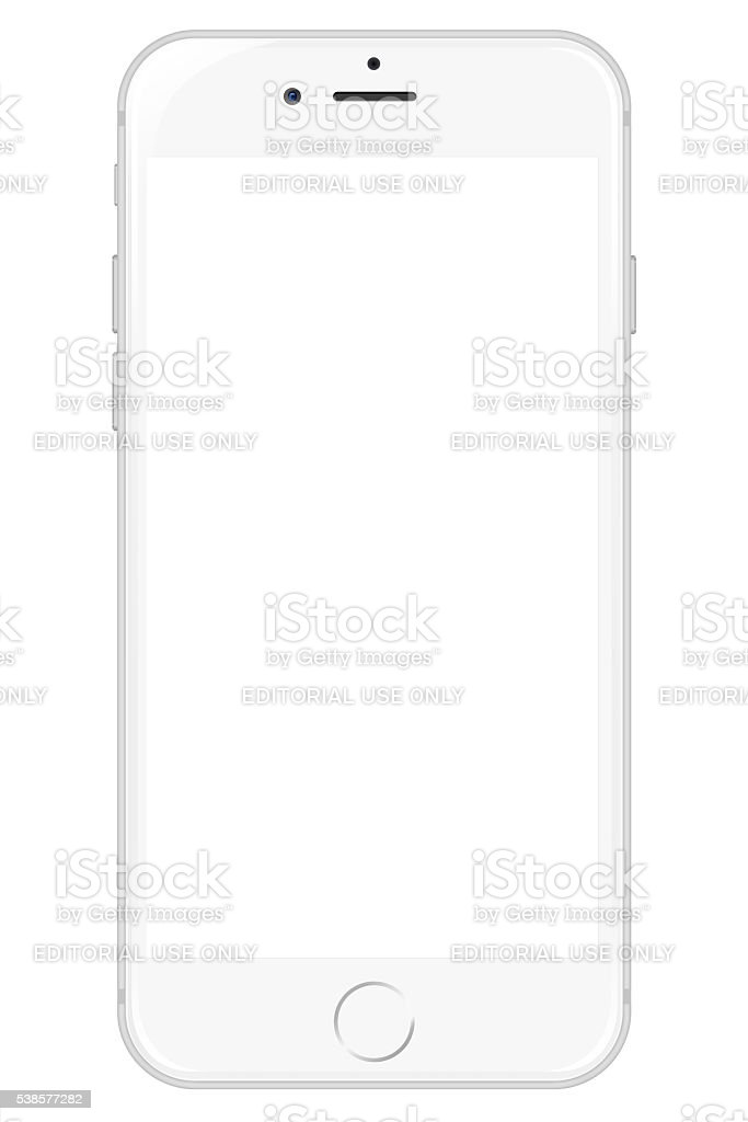 IPhone 6 - White stock photo