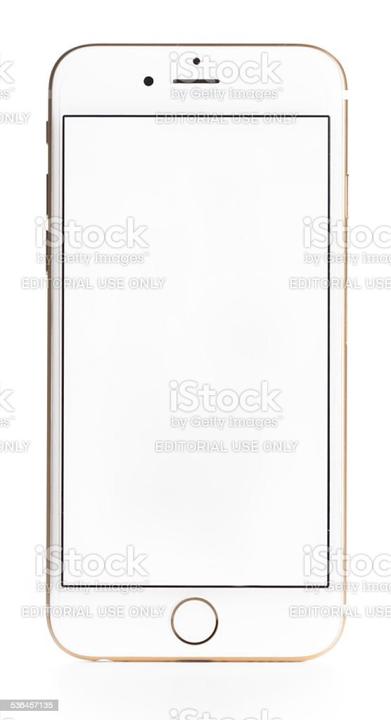 iPhone 6 with a Blank Screen stock photo