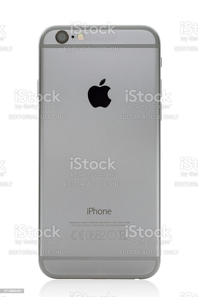 iPhone 6 with clipping path stock photo