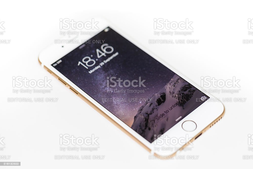 iPhone 6 with iOS8 stock photo