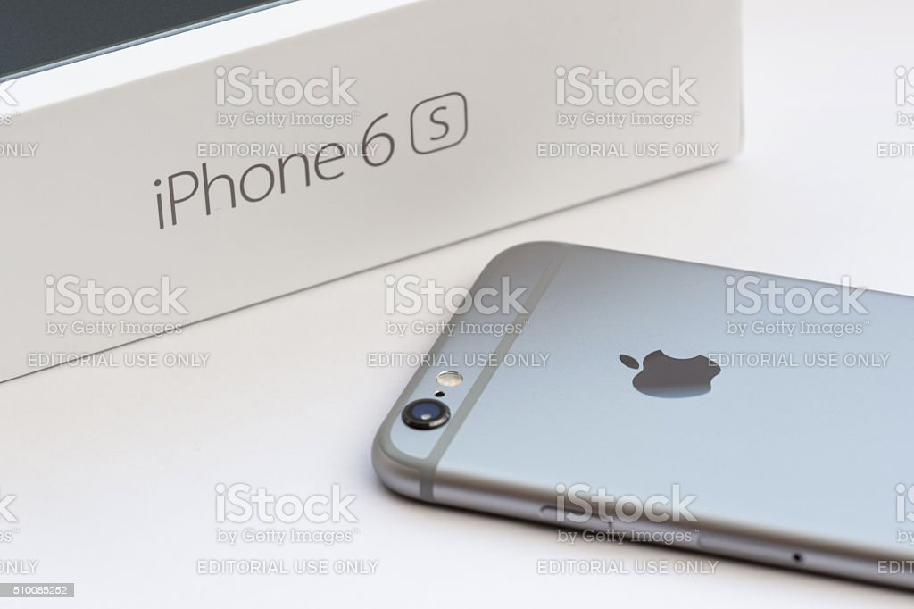 iPhone 6s Space Gray Back stock photo