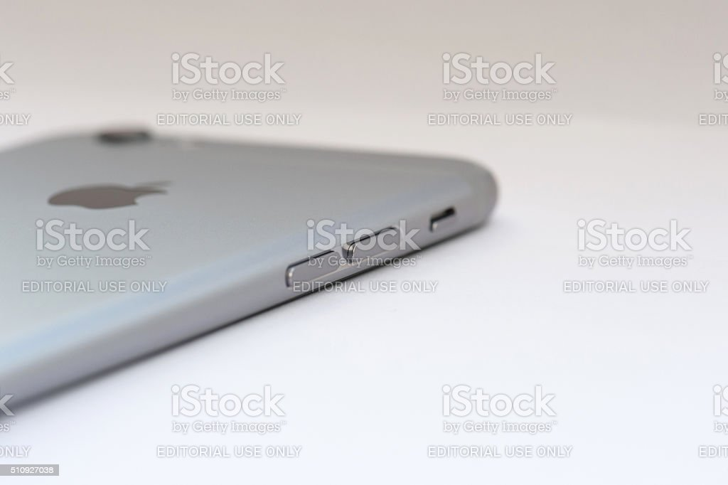 iPhone 6s Space Gray side stock photo