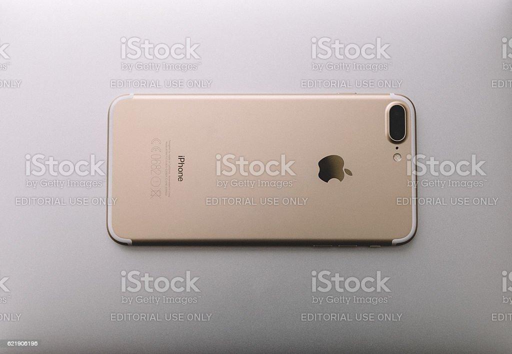 iPhone 7 Plus Gold stock photo