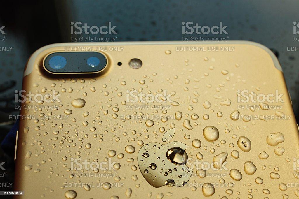 iPhone 7 Plus waterproof stock photo