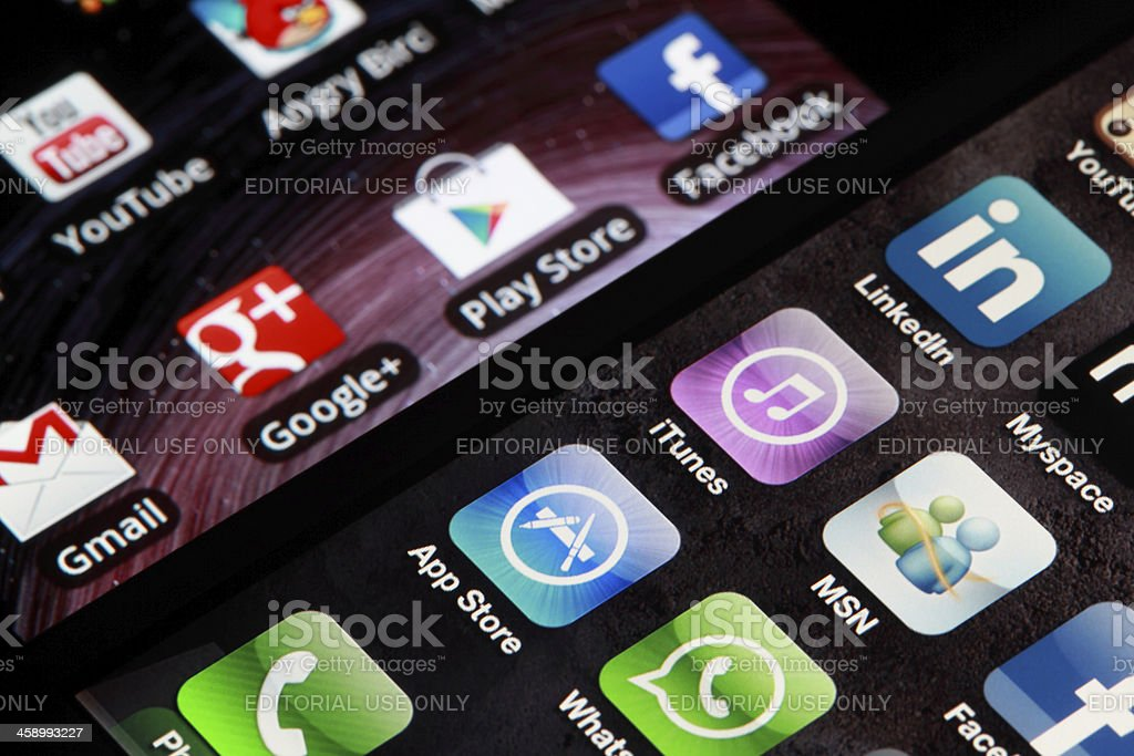 iphone and Android royalty-free stock photo