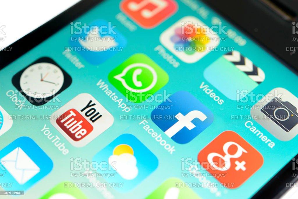 iPhone iOS7 stock photo