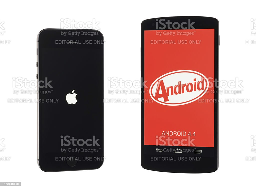 iPhone or Android? stock photo