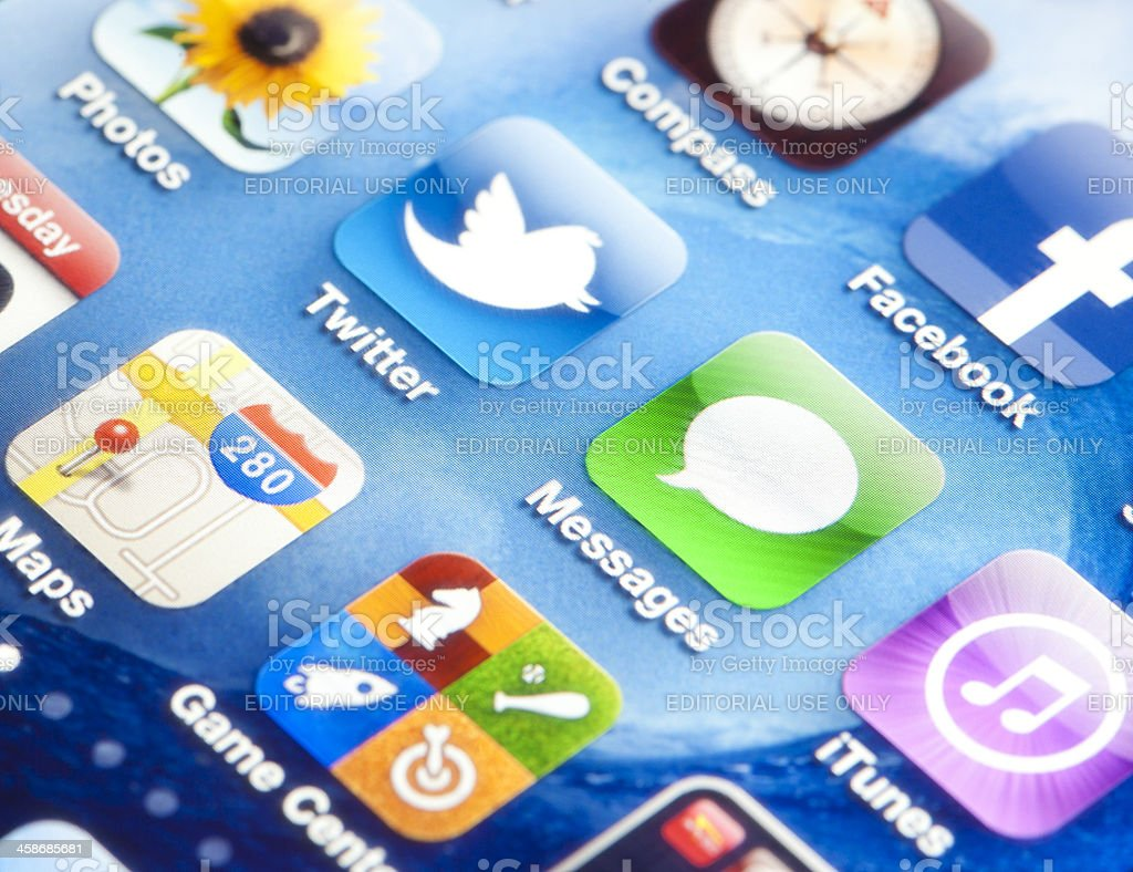 iPhone Screen royalty-free stock photo