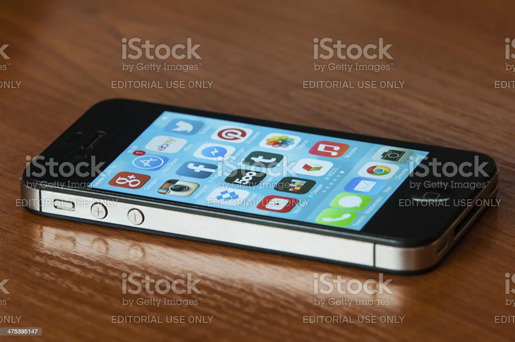 iPhone with Ios7 stock photo