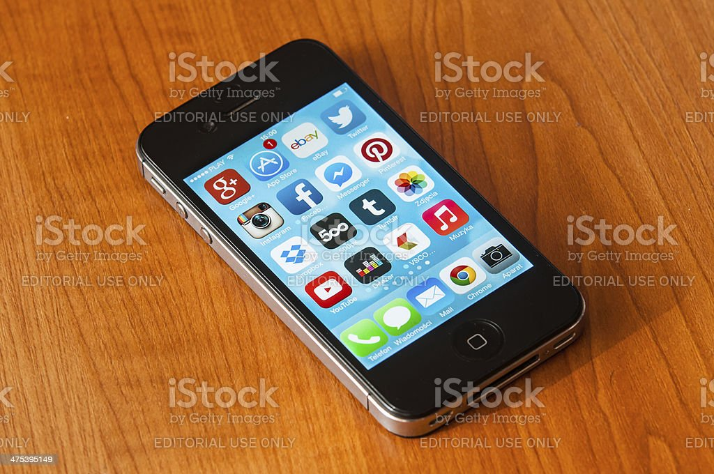 iPhone with Ios7 stock photo