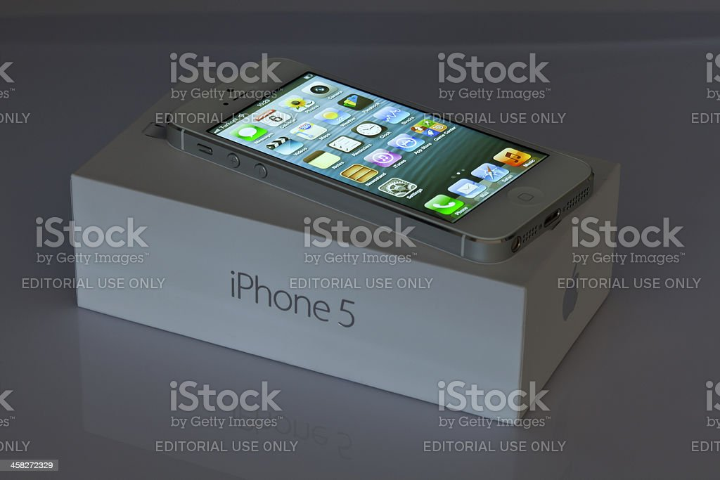 iPhone5 with box stock photo