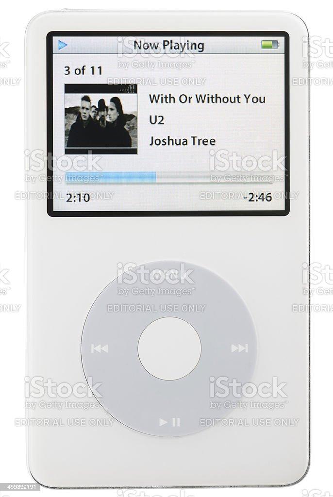 iPod Playing Music royalty-free stock photo