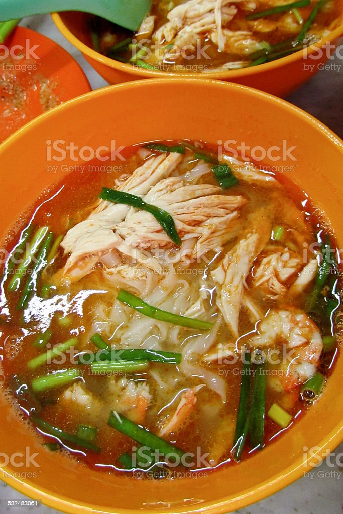 Ipoh Sar Hor Fun, flat rice noodles, stock photo