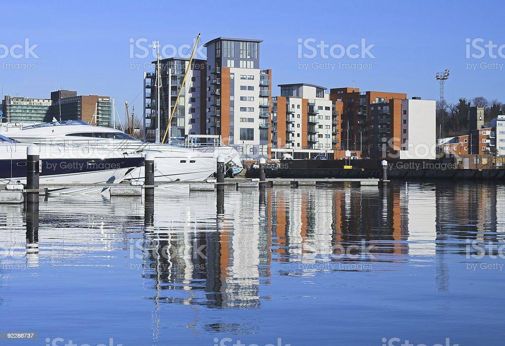 Ipswich marina zbiór zdjęć royalty-free