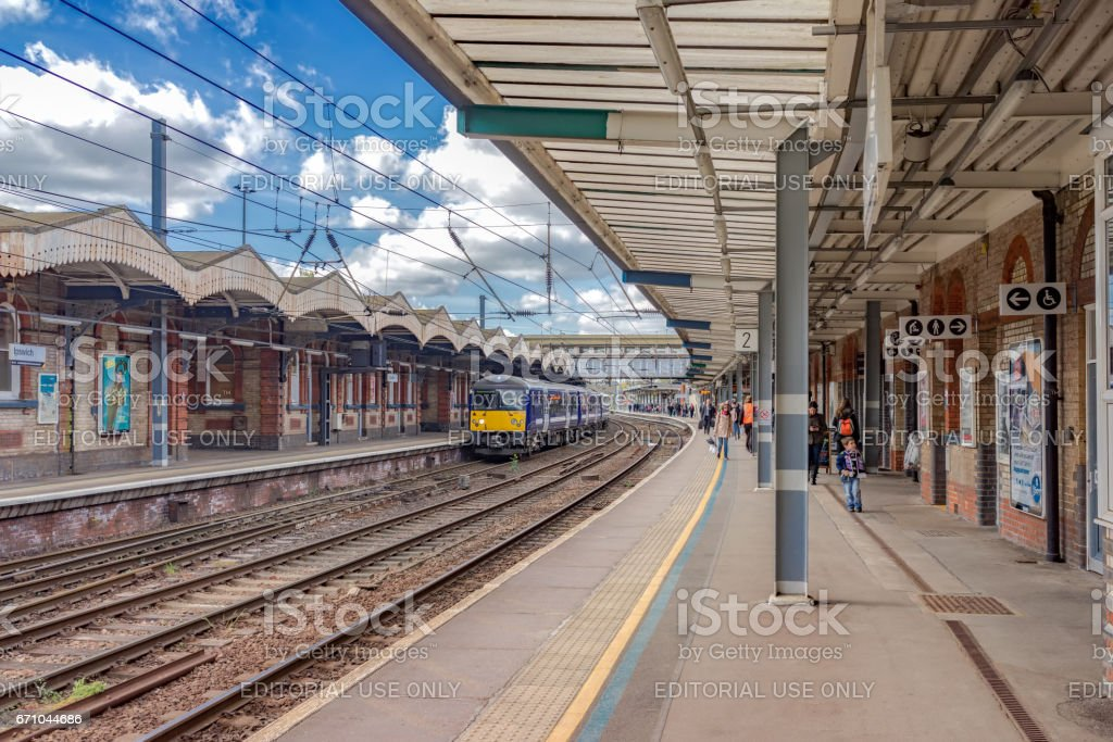 Ipswich station in Suffolk, UK stock photo