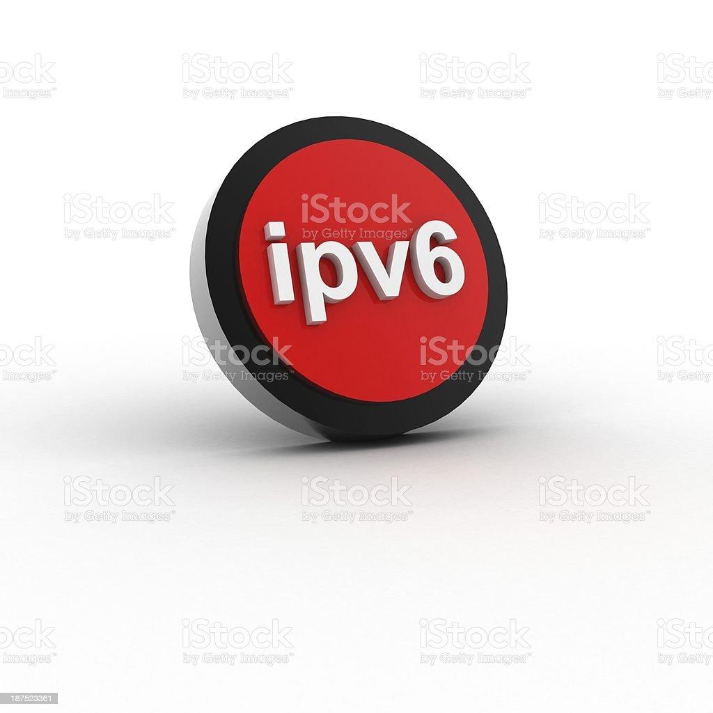 ipv6 button stock photo