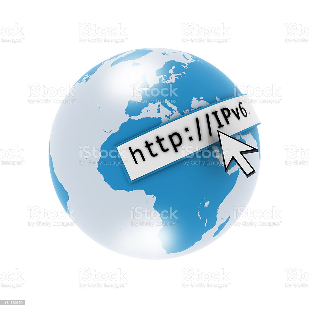 IPv6 Internet stock photo
