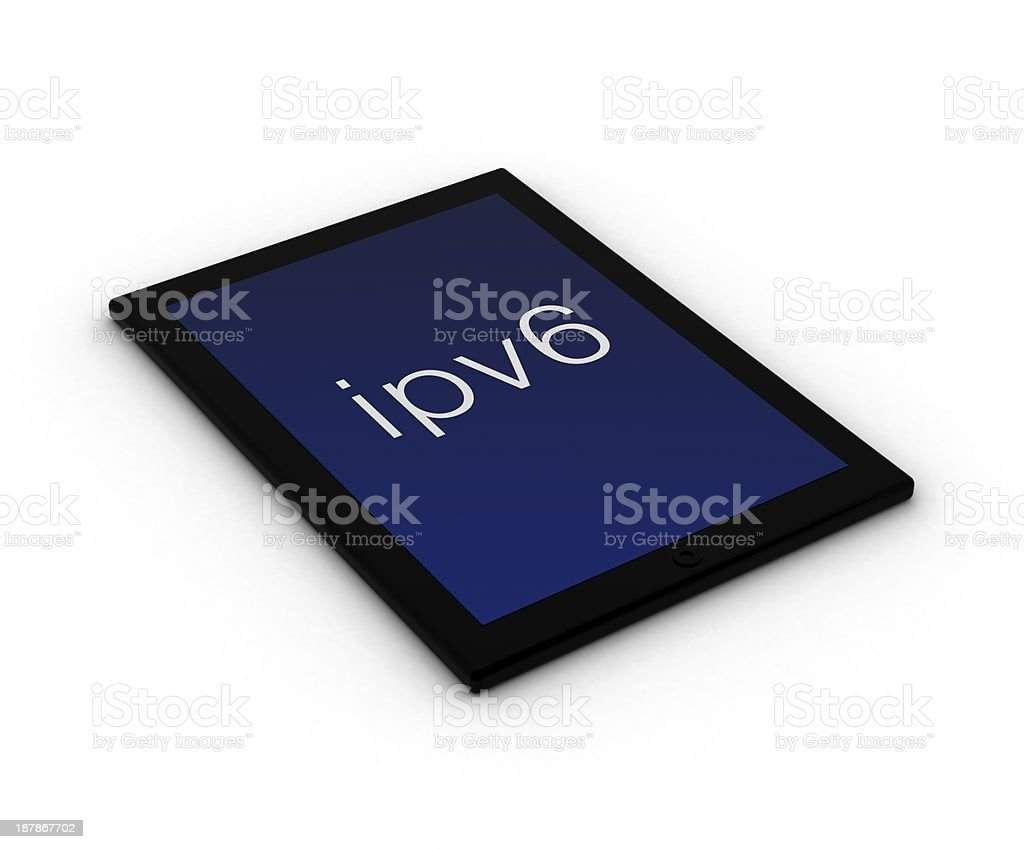 ipv6 ipad & digital tablet stock photo