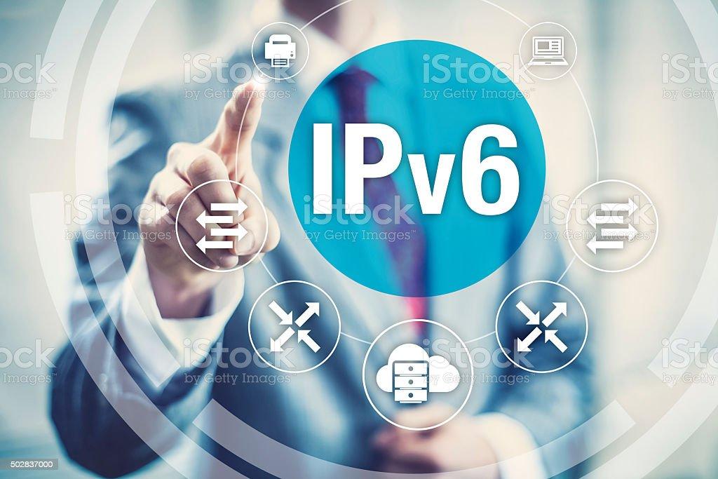 IPv6 new internet protocol stock photo
