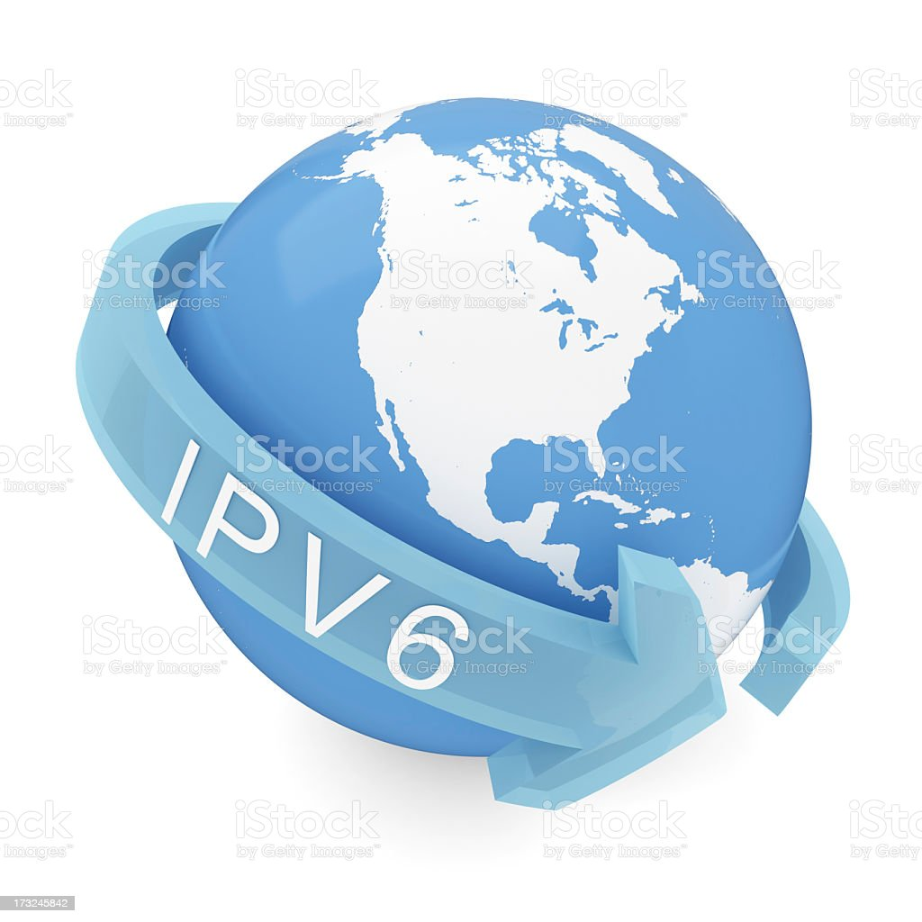 IPv6 royalty-free stock photo