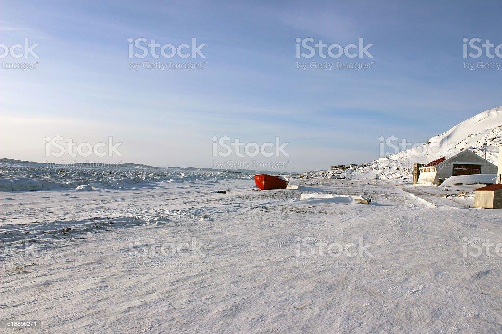 Iqaluit Beach stock photo